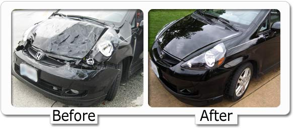 fixing car paint damage  Dents Unlimited, Cox Collision
