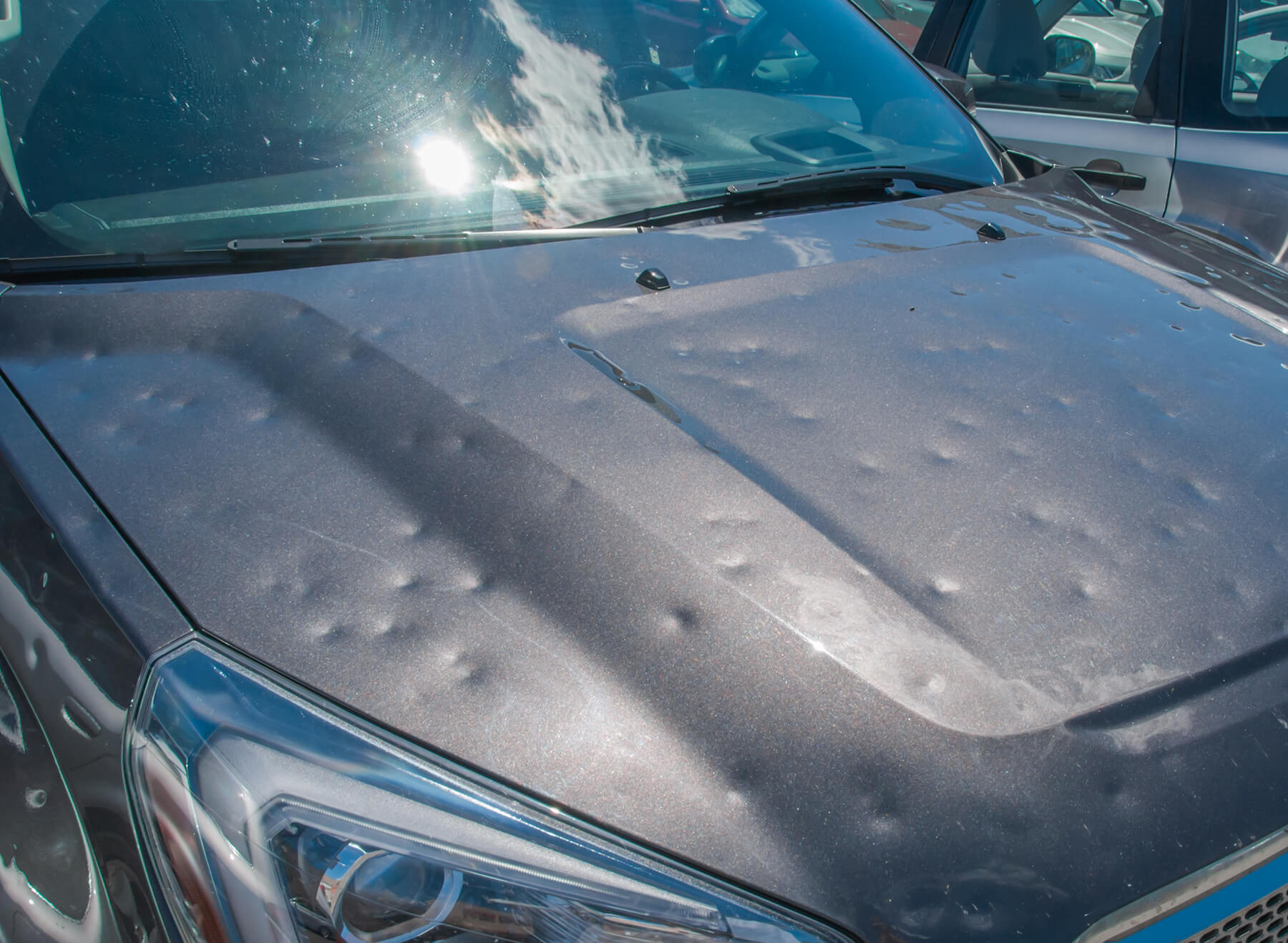 Vehicle after a hail storm